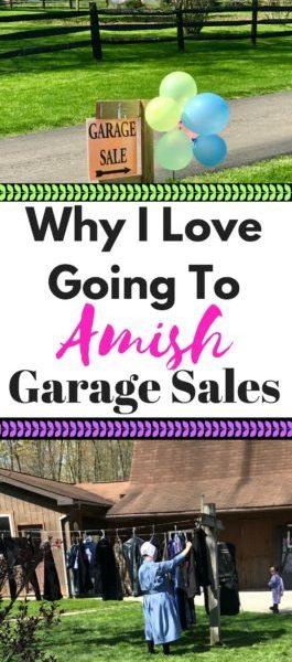 Amish Garage Sale Experience