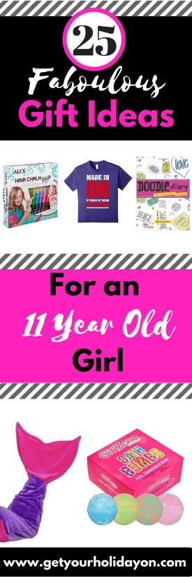 Stuck for ideas and clueless on what to get as a gift for an 11 year old girl? I have been there and needed ideas too. I was envisioning something other than money. That's when I found www.getyourholidayon.com's gift guide for 25 awesome birthday or Christmas gift ideas for an 11 year old girl.
