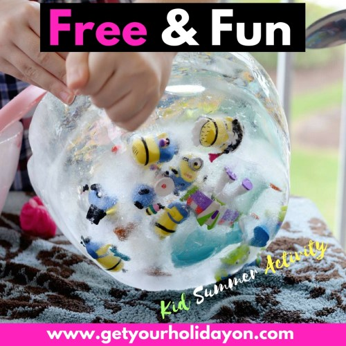Free Activity for Summer Fun for kids. Great way to keep the kids entertained for hours.