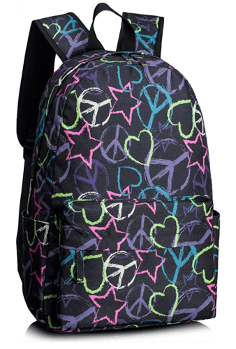 Teen and Tween Cool School Supplies with personality Backpack for Girls, Cute College Bookbag School Daypack Shoulder Bags