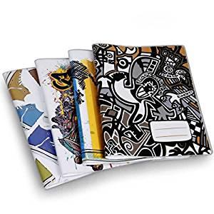 Bundle Monster 4pc Big Kid Mixed Design Reusable Plastic Sleeve Composition Book Covers - Set 3: Skater Boy