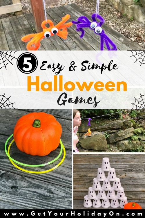 Need Easy and Simple Halloween Party Ideas? These party games are easy, inexpensive, and FUN! Kids will love these games for a Halloween bash, trunk or treat, a church event, or another fall festival.