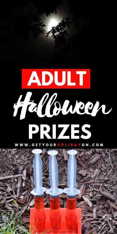 Adult Halloween Party Game Prizes to create the best costume party, pumpkin carving contest, door prizes, and the best Halloween bash! #halloween #diy #diys #diyfall