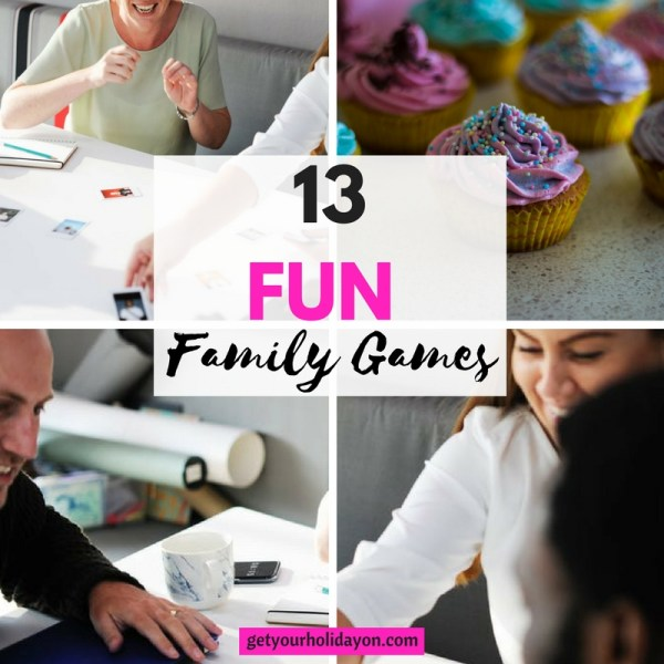 13 Family Fun Games that are perfect for game night and having fun family bonding time.