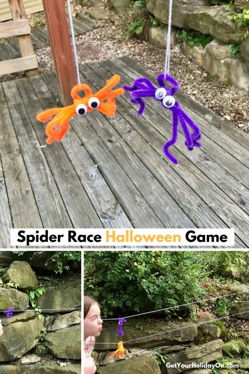 5 Easy and Simple Halloween Games Spider Race