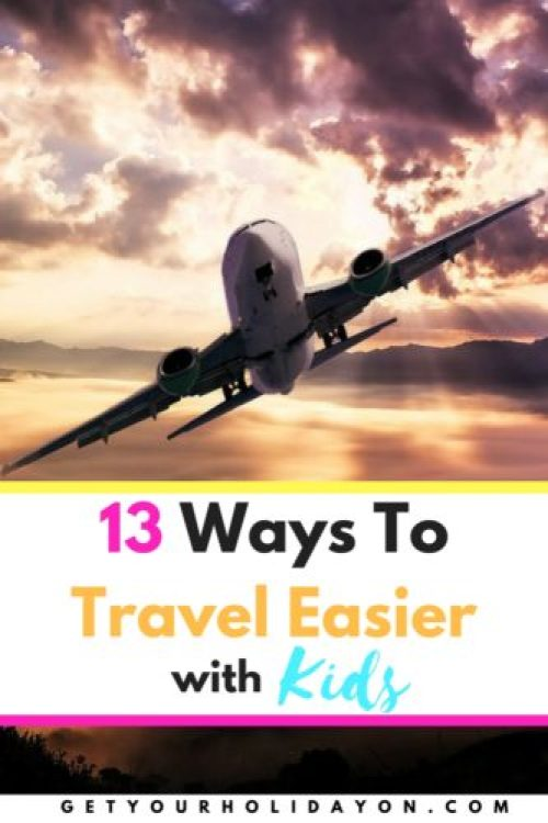 Check out these 13 Hacks that will make life easier while traveling with kids. These tips and ideas will be great for an airplane ride, road trip, or just being on the go. Remember planning ahead can really pay off, both for peace of mind and a time management standpoint.