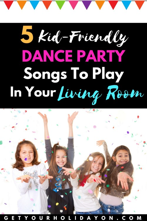 5 Kid-Friendly Dance Party SongsTo PlayIn Your Living Room Have you ever had a dance off party with your kids in the living room? This is a fantastic idea. My kids love to dance and what FUN songs to use!