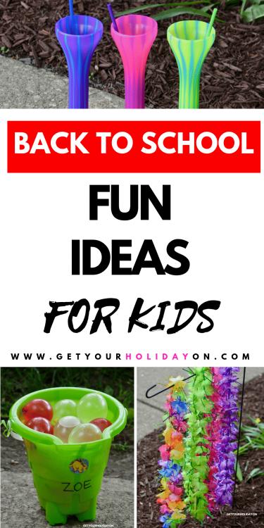 Fun back to school ideas for kids. #backtoschool #students #teachers #parenting