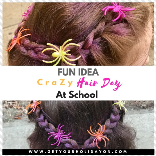 Simple and Easy Crazy Hair Idea for Scho...