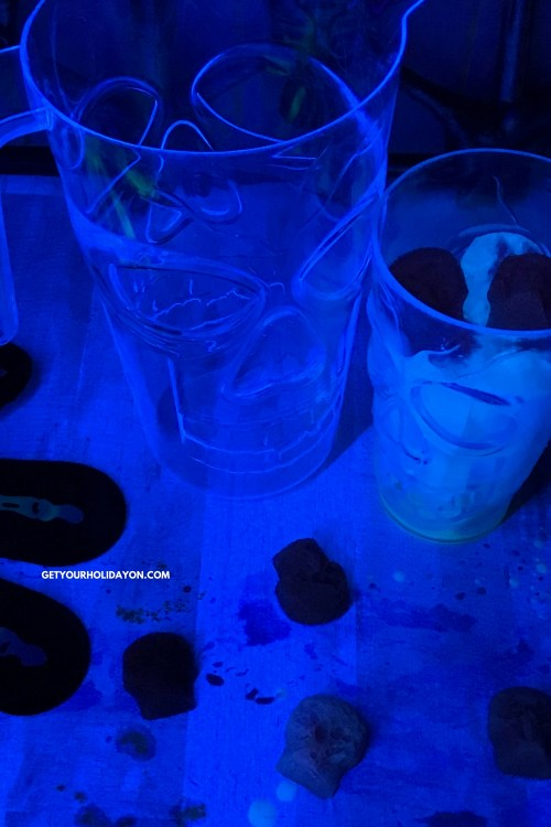 I can't believe what these glowing skull ice cubes are made of!