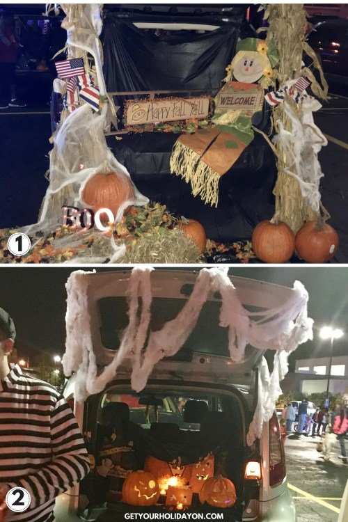 Examples of Trunk or Treat ideas.