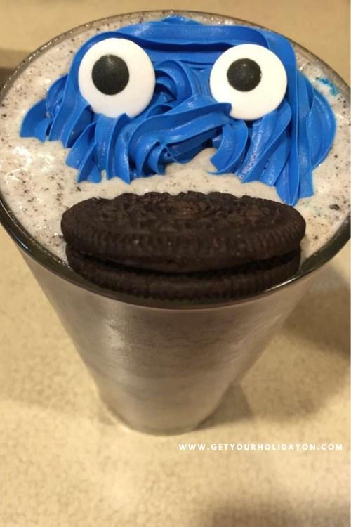 Cookie Monster Adult Drink | Grown up fun beverage | 21 + Cookie Monster Milkshake with alcohol