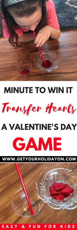 Minute To Win It Heart Transfer #diygame #February #valentinesday #diycrafts