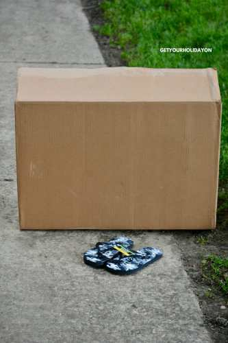 Wow! What did she turn this box and sandals into? #discovery #DIY #momlife #repurpose