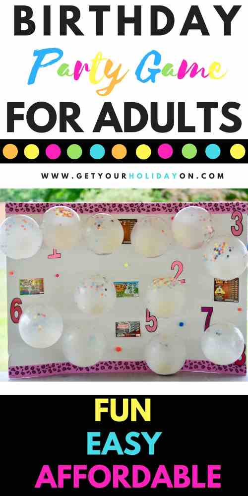 Woohoo, you found it! ThisSimple DIY Party Game For Adults is so easy to make and loved by all ages. This game will work perfectly for any party including a 21st birthday, 30th birthday, 40th birthday, 50th birthday party, and more. #birthdayparty #40thbirthday #50thbirthday #play #party