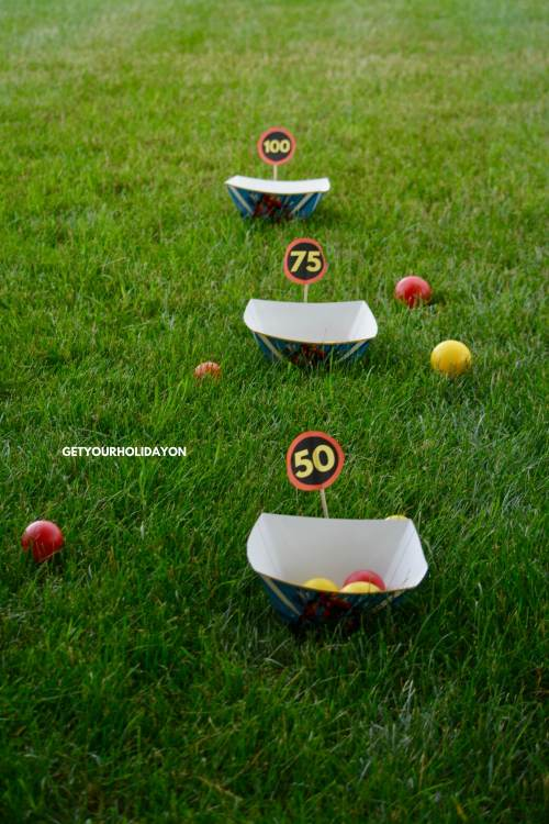 Get that SUPER SUIT ready for this Incredibles Game Ball Toss! #play #party #family #Incredibles