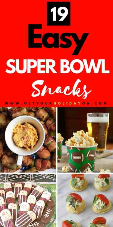 Easy Super Bowl Snacks for two & quick and easy party finger food recipes for game day parties! #superbowl #superbowlfood #superbowlparty #superbowlsnacks