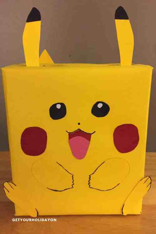 Pokemon Pikachu Valentine Box a Unique Valentine Box Ideas #pokemon #Pikachu #pokemonparty #diycrafts
