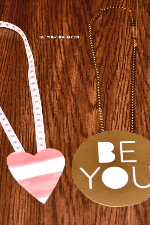 DIY Teen and Tween Valentines day cards with bling for girls.