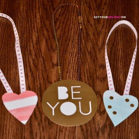 DIY heart-shaped jewelry Valentine's Day Card Bling for Girls! #tween #teen #girlmom #momlife