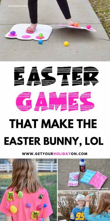 Easter Games that makes the Easter Bunny laugh! #momlife #easterbunny #partyplanning #diys
