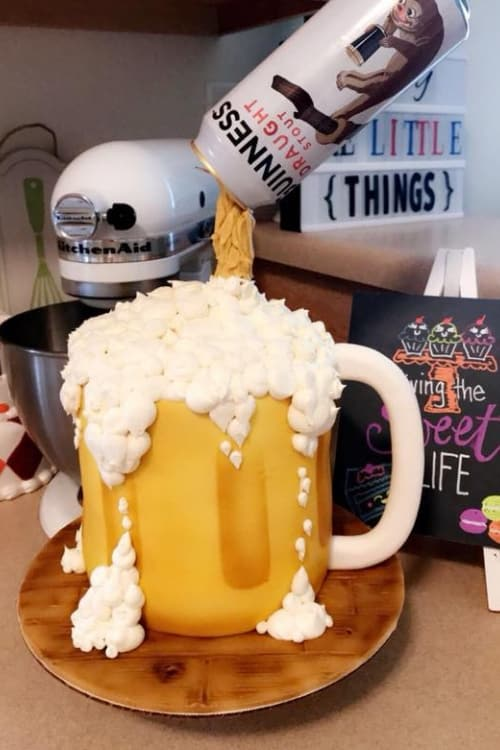 Beer cake designs for guys! Perfect birthday cake for a soldier or marine!
