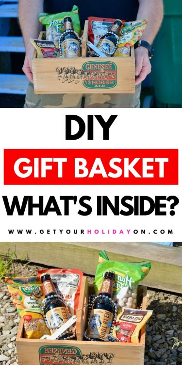 Unisex gift basket ideas for men or women! Discover what's inside! #giftbasket #food #partyfavors #diygifts