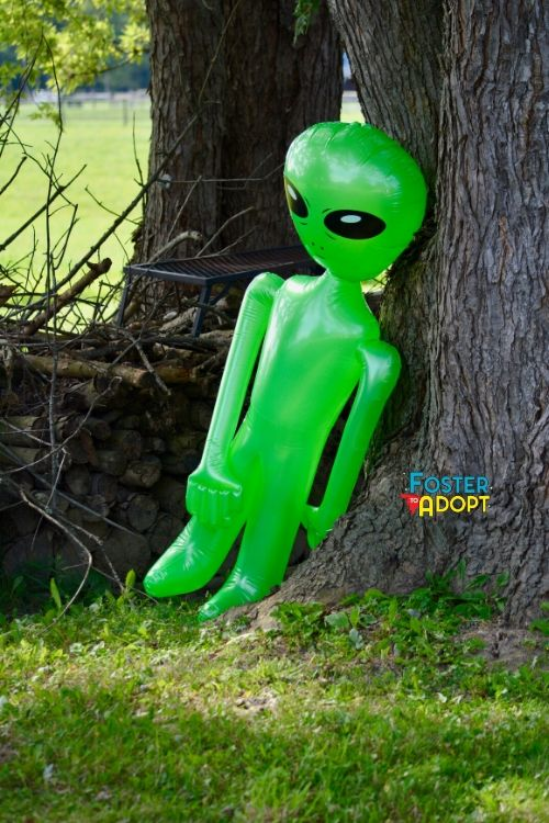 Alien Scavenger hunt idea for kids