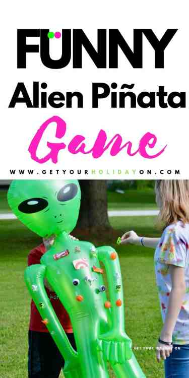 Each kid will have an opportunity to chase the person holding the Alien. They will have to grab as many prizes off as possible. The player with the most candy or treats wins!