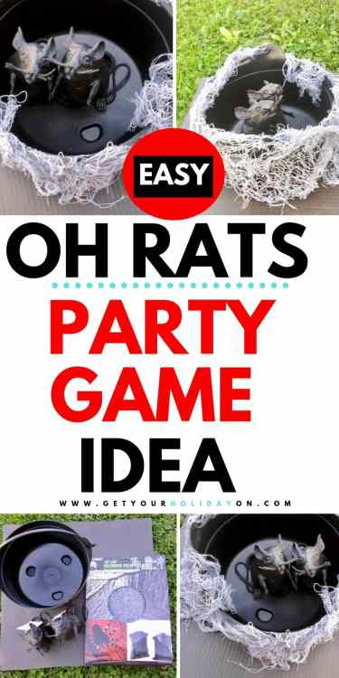 Oh Rats Party Game Idea for Kids and Adults! #halloween #diys #ghosts #momlife
