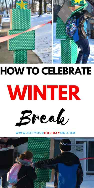 Get your holiday on by celebrating Winter Break in style! #motherhood #parenting #mom #kids
