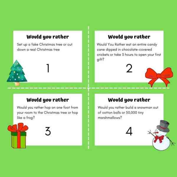 Would you rather Christmas PDF edition