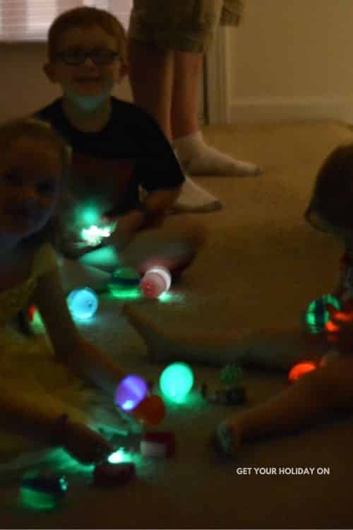 Glow in the dark Easter egg hunt for kids you can do in your home!
