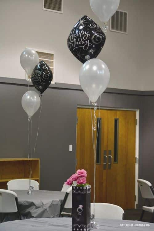 Elegant Diamond Birthday Party Balloons