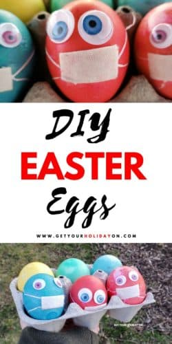 DIY Easter eggs with masks from Get Your Holiday On.