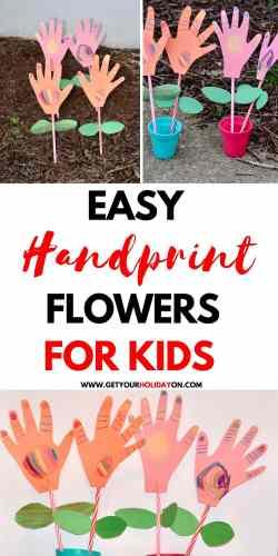 Sring flower crafts for children to make for mommy, mom, or grandma.