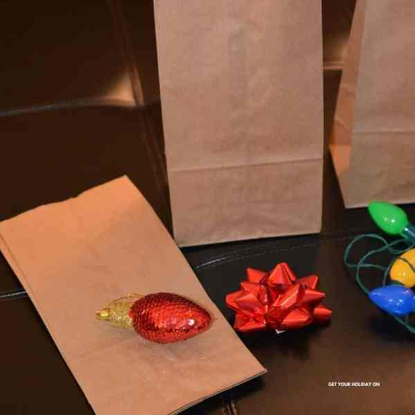 we found an easy way to make a Christmas game bag idea from home for kids.