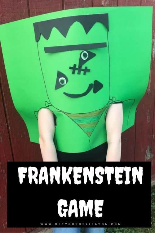 Frankenstein halloween game put the items on his face.