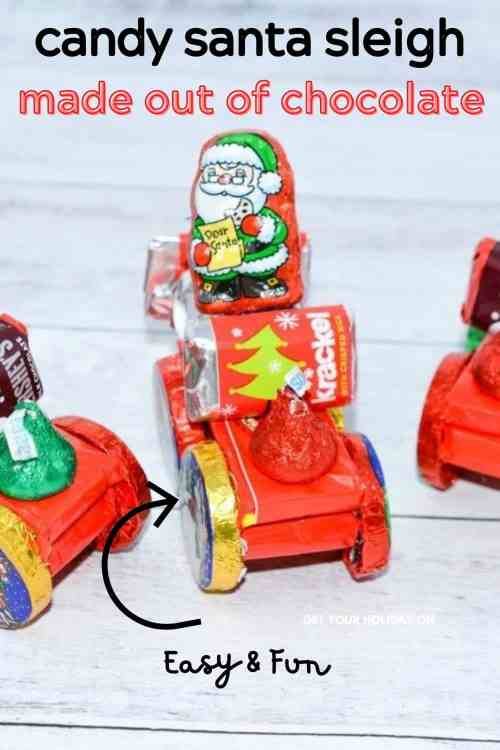 This candy Santa sleigh is made out of chocolate and is easy and fun!
