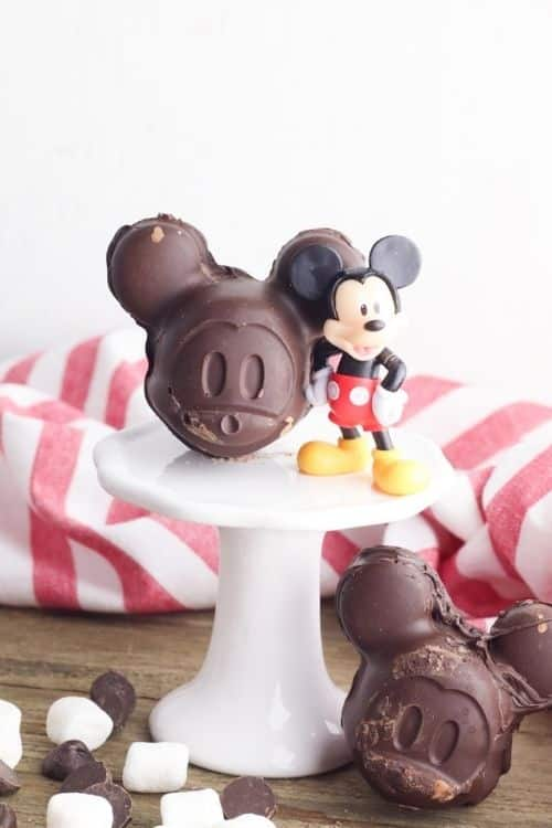 Mickey Mouse hot chocolate bombs that is Disney inspired.