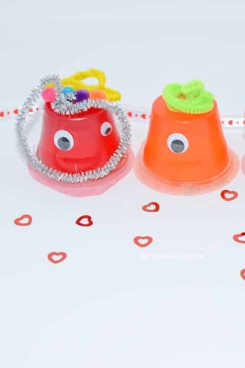 These adorable Valentine's Day Craft Monsters only takes minutes to make!