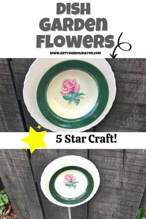 How to make garden flowers out of old dishes.