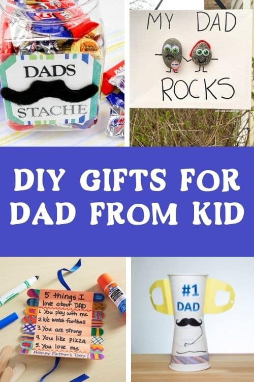 DIY GIFTS FOR DAD FROM KID. EASY CRAFTS TO MAKE FOR Father's Day DIY PROJECTS.