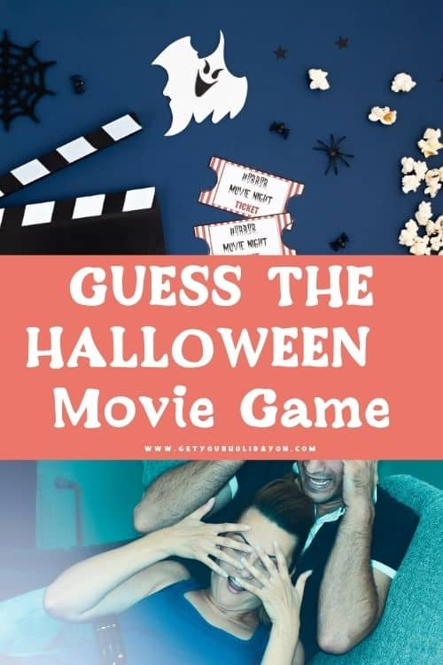 Guess the halloween movie game version of this guess who party game.