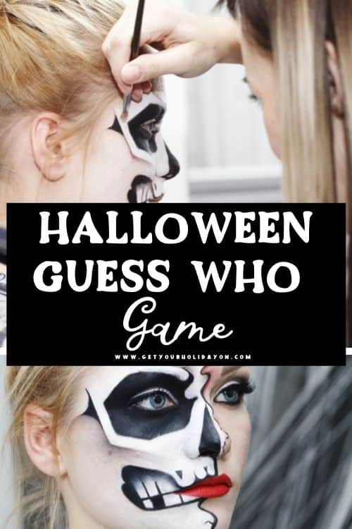 Halloween Guess Who Game Printable for a fun Halloween party game for Oct.