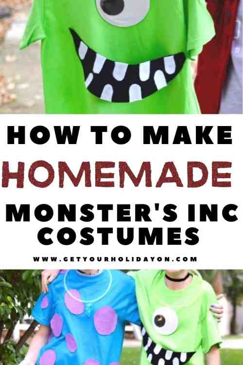 how to make homemade monsters inc costumes.