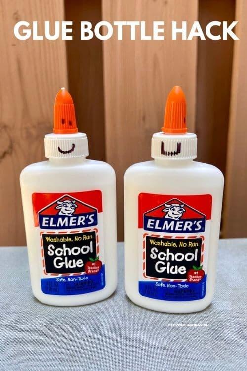 glue bottle hack for back to school.