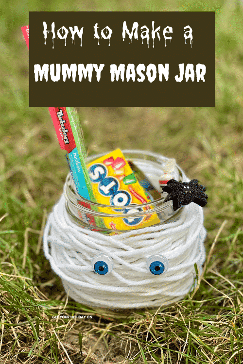 Learn how to make a mummy mason jar.