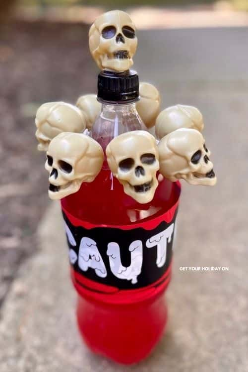 Drinking with skeletons just got more fun with this dollar tree skull DIY!