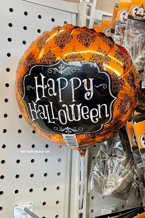 happy halloween balloons make great prize Ideas for Halloween.